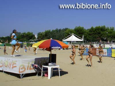 Animazione in spiaggia a Bibione