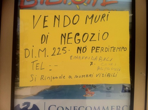 """cartello """"vendesi"""" a Bibione"""