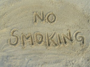 no smoking beach
