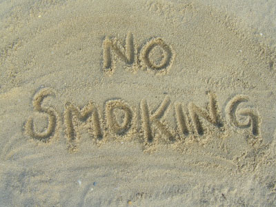 no smoking beach
