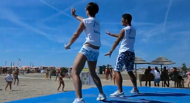 Animazione in spiaggia - Danza Kuduro