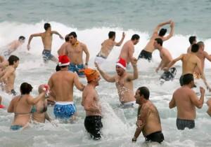 bagno in mare in inverno