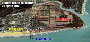 Tracciati Bibione Beach Triathlon 2012