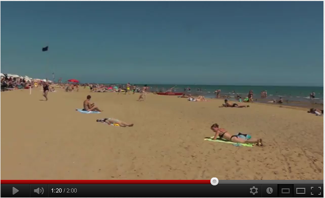 Video YouTube spiaggia