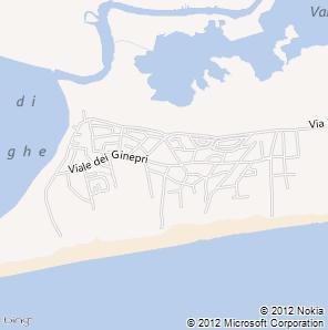 Mappa Bibione Pineda
