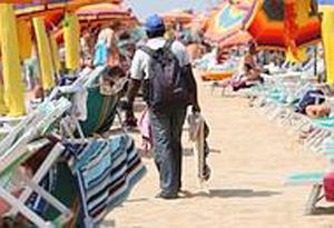 Ambulante in spiaggia