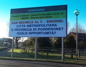 """Convegno """"San Michele al Tagliamento – Bibione: Città metropolitana e provincia di Pordenone? Quale opportunità?"""""""