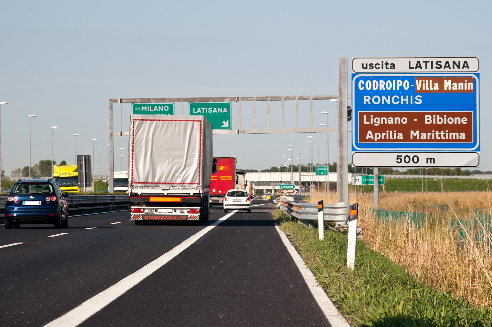Autostrada svincolo Latisana