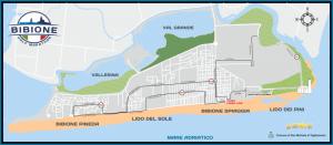 Mappa del percorso Bibione Half Marathon 2016