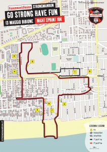 Percorso Night Sprint 10K a Bibione