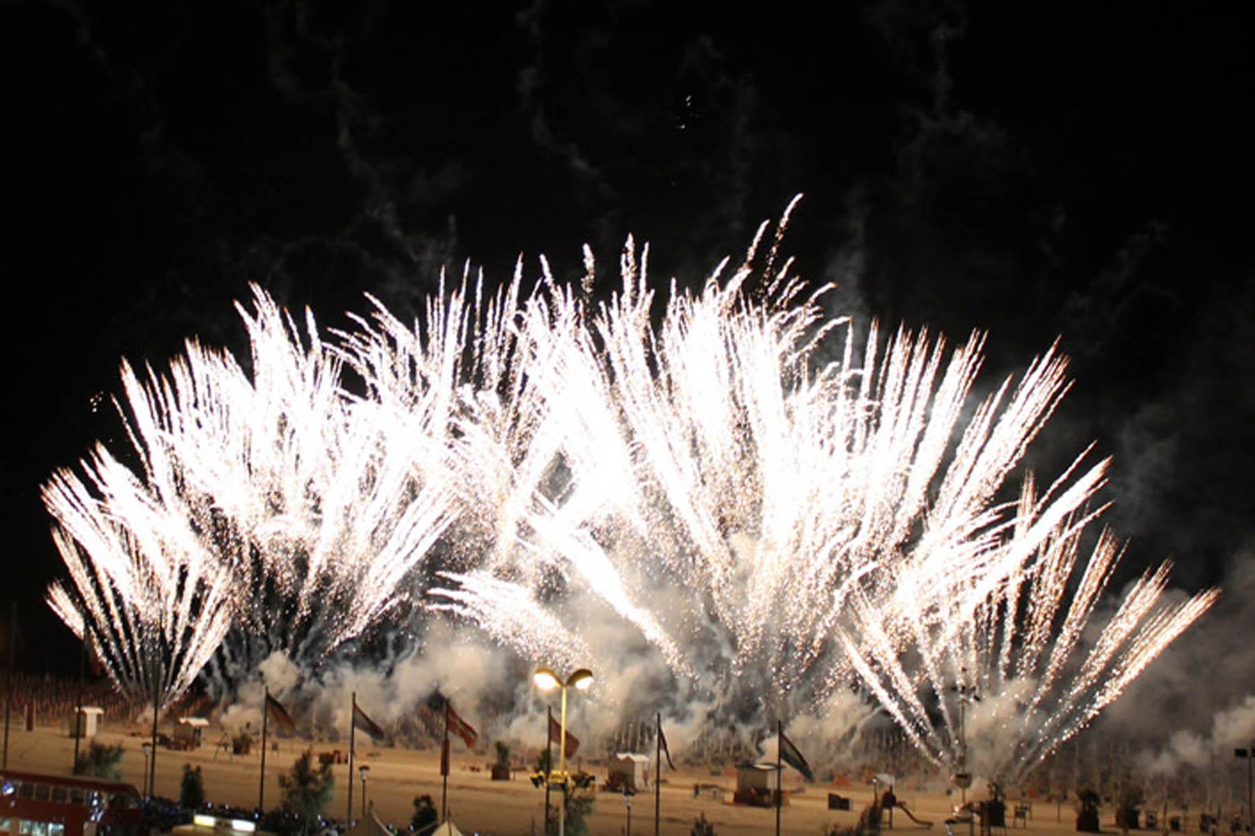 Fuochi d'artificio e spettacolo pirotecnico musicale 2018