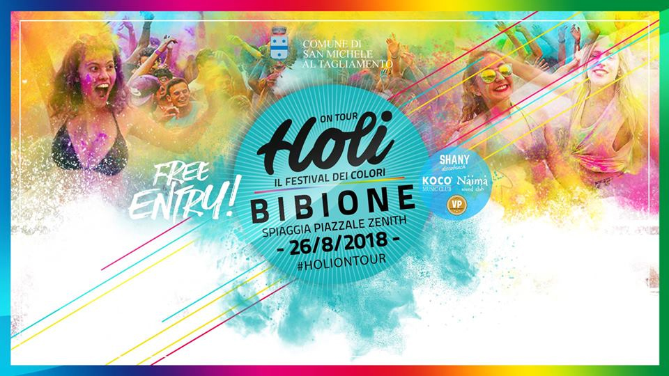 holi on tour bibione agosto 2018