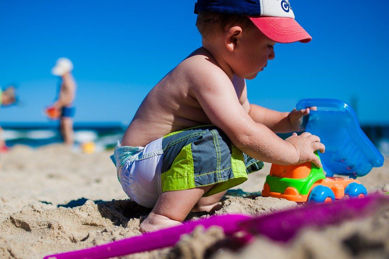 Spiaggia a misura di bambino