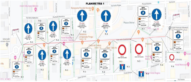 Planimetria ZTL Bibione 2021